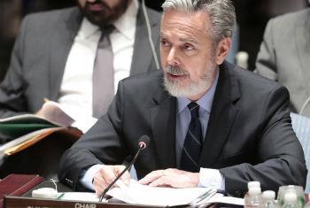 Antonio Patriota discursa no Conselho de Segurança. Foto: ONU/Evan Schneider