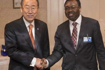Ban Ki-moon (esq.) e o presidente do Conselho da Icao. Foto: ONU