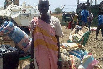 Deslocado interno no Sudão do Sul. Foto: Unmiss/Mihad Abdallah