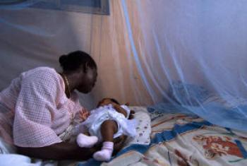 Proteção com redes mosquiteiras. Foto: Banco Mundial/Arne Hoel