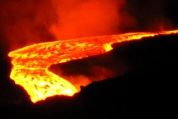 Aumento da atividade vulcânica. Foto: Ocha.
