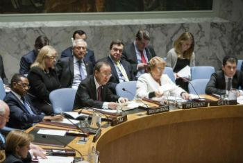 Ban Ki-moon em discurso no Conselho de Segurança. Foto: ONU/Louiesen Felipe