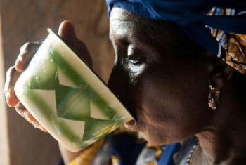 Amostras recolhidas no local de fabrico.Foto: Banco Mundial