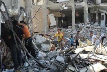 Destruição em Gaza. Foto: Unrwa