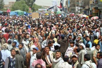 Protestos no Iêmen. Foto: Irin/Adel Yahya