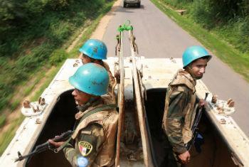 Capacetes azuis na RD Congo. Foto: Monusco/Abel Kavanagh