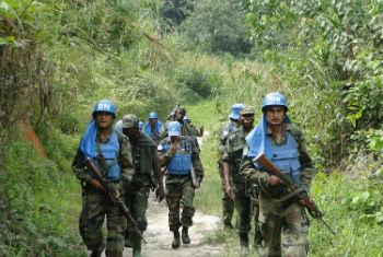 Capacetes-azuis na RD Congo. Foto: Monusco