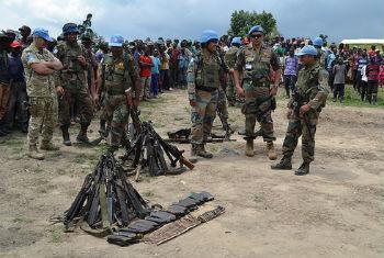Cerimônia de rendição e desarmamento de ex-combatentes do Fdlr. Foto: Monusco
