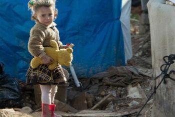Criança iraquiana em acampamento para refugiados. Foto: Unicef