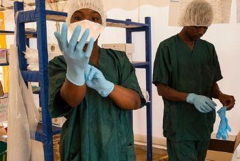 Unidade de Tratamento de Ebola em Nzerekore. Foto: Unmeer/Martine Perret