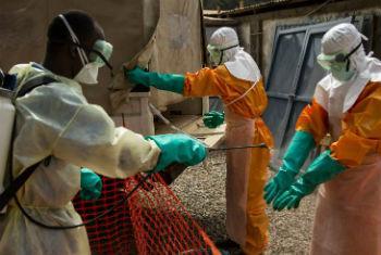 Combate ao ébola. Foto: Unmeer