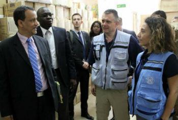Chefe da Unmeer, Ismail Ahmed, visita o Mali. Foto: Unmeer/Pierre Péron