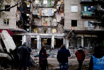Destruição na Ucrânia. Foto: Acnur