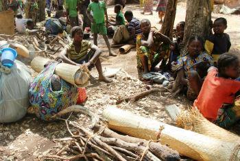 Deslocados na República Centro-Africana. Foto: Ocha/Gemma Cortes