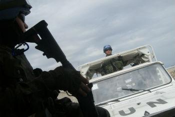 Tropas da Minustah em Porto Príncipe. Foto: Rádio ONU