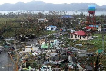 Passagem do tufão Haiyan nas Filipinas. Foto: Unicef