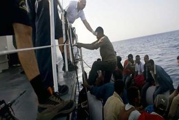 Resgate de migrantes. Foto:UNHCR/A.Di Loreto