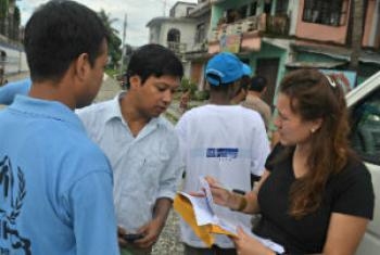 Voluntários no Nepal. Foto: VNU Nepal