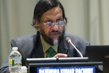Rajendra Pachauri. Foto: ONU/Rick Bajornas