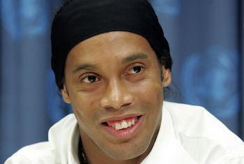 Ronaldinho Gaúcho. Foto: ONU/Paulo Filgueiras