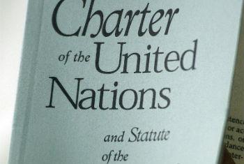 Cópia da Carta das Nações Unidas. Foto: ONU/Mark Garten