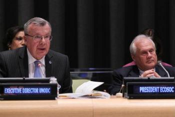 Yuri Fedotov na sede da ONU. Foto: ONU/Devra Berkowitz
