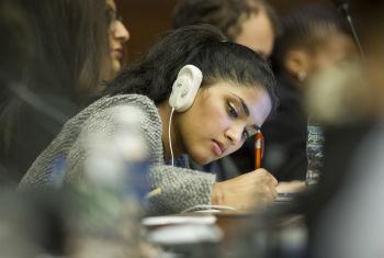 Jovem participa de Fórum da Juventude. Foto: ONU/Loey Felipe