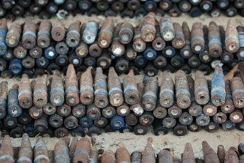 Armamento coletado na Líbia para prevenir a proliferação de armas. Foto: Giovanni Diffidenti