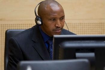 Bosco Ntaganda em sua primeira aparição perante o Tribunal Penal Internacional, em março de 2013. Foto: TPI