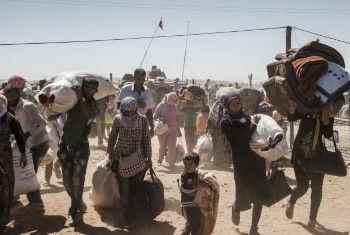 Refugiados sírios. Foto: Acnur/I.Prickett