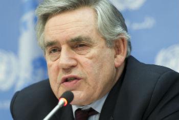 Gordon Brown nesta quarta-feira na sede da ONU. Foto: ONU/Mark Garten