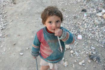 Criança síria. Foto: Ocha/J. Guerrero