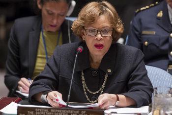 Sandra Honoré no Conselho de Segurança nesta quarta-feira. Foto: ONU/Loey Felipe