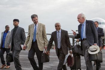 Membros do Conselho de Segurança chegam à República Centro-Africana. Foto: ONU/Dany Balepe