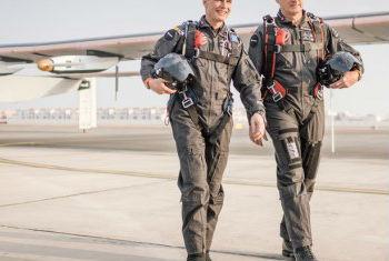 Os líderes do projeto Impulso Solar, Bertrand Piccard (esq.) e André Borschberg. Foto: Pnuma