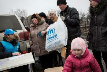 Ucranianos recebem assistência do Acnur. Foto; Acnur/A.McConnell