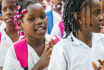 Estudantes angolanas. Foto: Unicef Angola