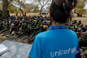 1.104 crianças foram reunidas com os seus familiares.Foto: Unicef/Sebastian Rich