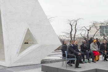 Memorial permanente em homenagem às vítimas da escravidão. Foto: ONU/Eskinder Debebe.