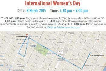 Trajeto da marcha em NYC. Imagem: ONU Mulheres