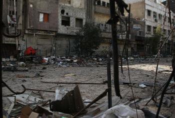 Refugiados palestinos que vivem em áreas de conflito na Síria como Yarmouk, Khan Eshieh e Dera'a, enfrentam desafios brutais. Foto: Unrwa/Taghrid Mohammed