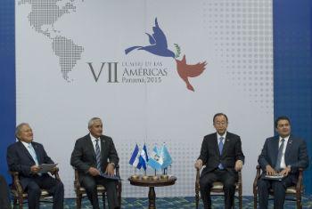 Ban Ki-moon em evento no Panamá. Foto: ONU/Eskinder Debebe