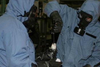 Especialistas da Opaq na Síria. Foto arquivo: Opaq