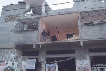 Prédios destruídos em Gaza. Foto: ONU/Eskinder Debebe