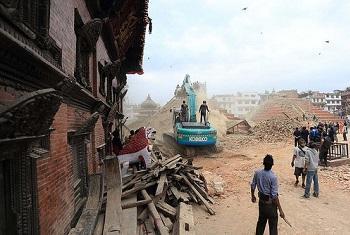 Colapso de casas e edifícios. Foto: Pnud/Nepal.