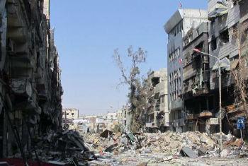 A área tem sido cenário de intensos combates desde o dia 1º de abril. Foto: Unrwa