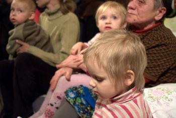 População deslocada na Ucrânia. Foto: Ocha