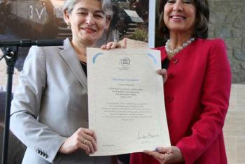 Irina Bokova e Christiane Amanpour. Foto: Unesco