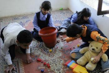 Crianças autistas. Foto: Banco Mundial/Dana Smillie