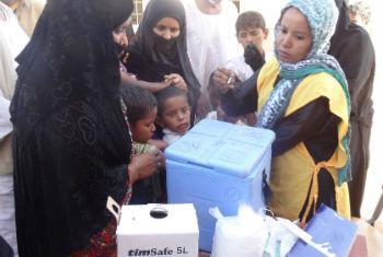 No Sudão, foram registados mais de 1,6 mil casos suspeitos de sarampo e 710 pacientes confirmados desde dezembro. Foto: OMS